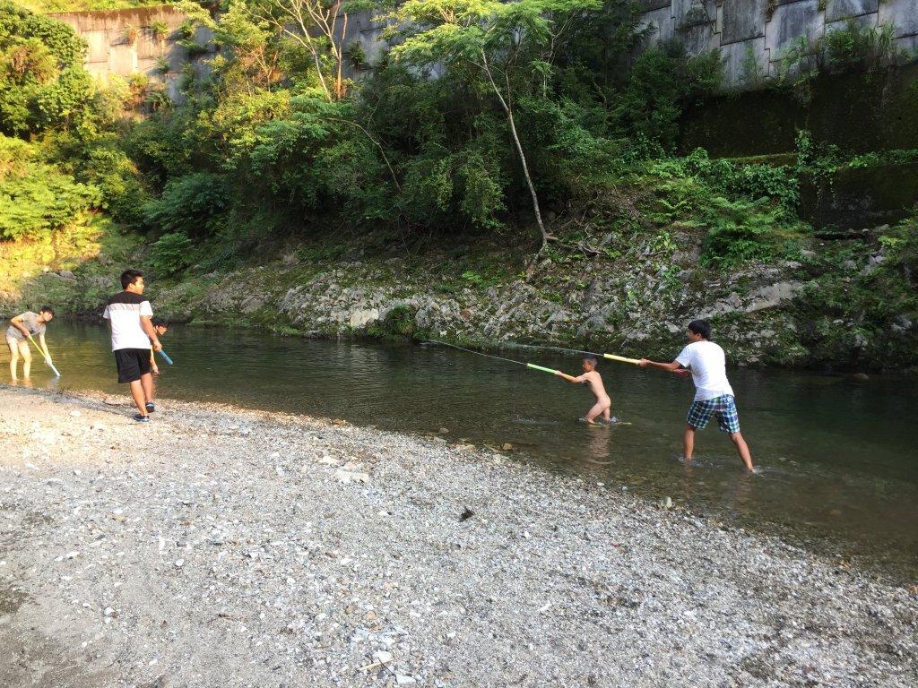 川遊び,周参見川,琴の滝荘