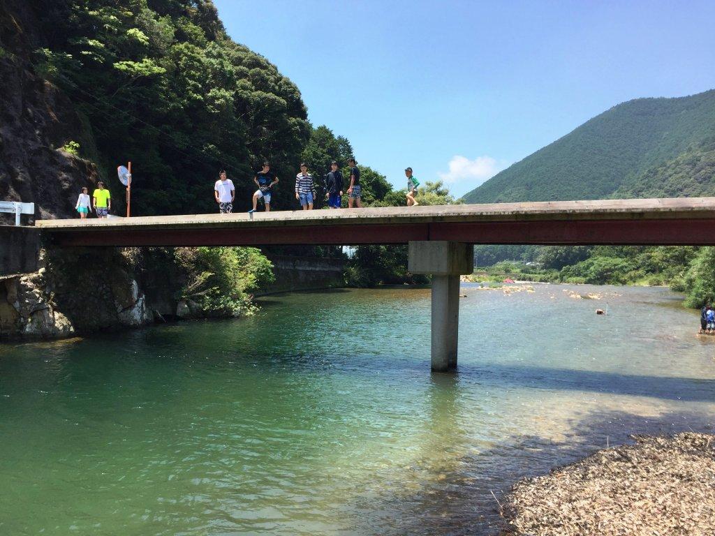 周参見川,ダイブ,とびこみ,すさみ町,和歌山