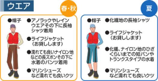 シーカヤックの服装