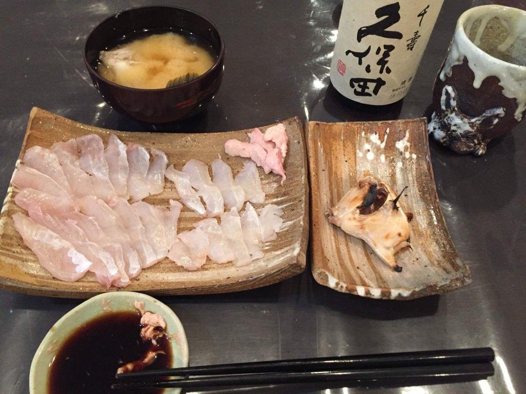カワハギ釣り,和歌山,加太,三邦丸,船カワハギ,お刺身,肝醤油