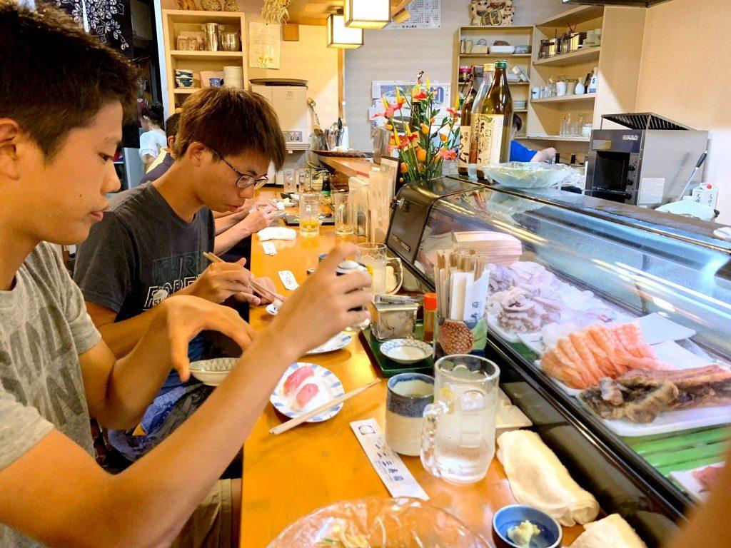 サーフィン,徳島,一二三寿司,寿司屋