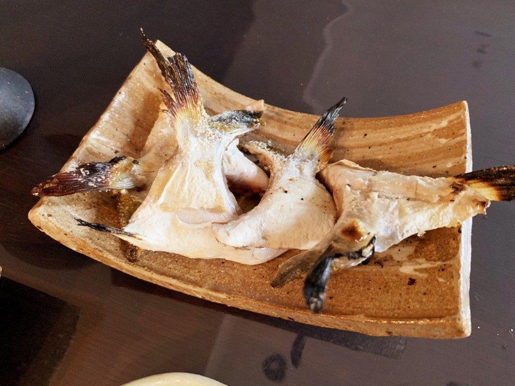 ハマチのカマの塩焼き