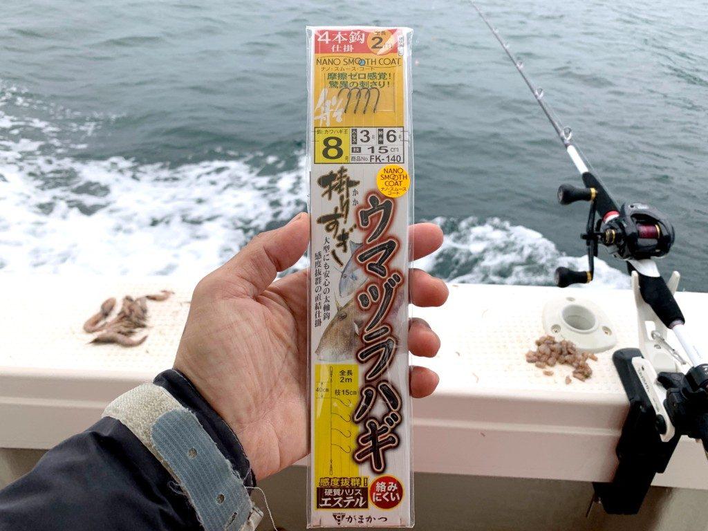 ウマヅラハギ釣り,明石,鍵庄